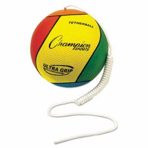 Champion Sports Ultra Grip Tether Ball, Yellow/Green/Blue/Red (CSIVTBS)
