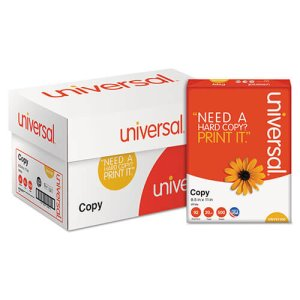 Universal Copy Paper, 92 Brightness, 8-1/2 x 11, White, 5,000 Sheets (UNV21200)