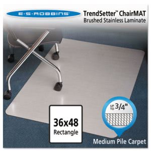 "ES Robbins Stainless 36x48 Chair Mat, for Carpet up to 3/4"" (ESR119337)"
