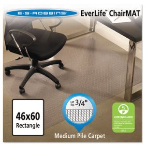 "ES Robbins Rectangle Chair Mat, Prof Series for Carpet up to 3/4"" (ESR122371)"