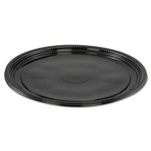 "Wna Caterline Casuals Thermoformed Platters, PET, Blk, 12"" Diameter (WNAA512PBL)"