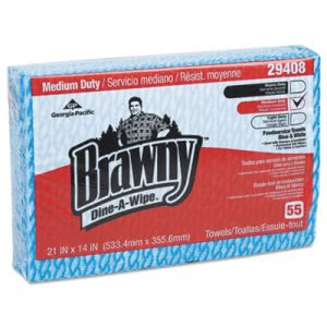 Brawny Foodservice Towels, 14 x 21, Blue/White, 330 Towels (GPC29408)