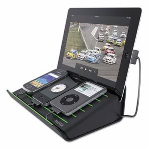Leitz Charging Station, USB, Portable, Black, 1 Each (LTZ652002)