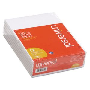 Universal Scratch Pads, Unruled, 4 x 6, 100-Sheet Pads, 12 pack (UNV35614)