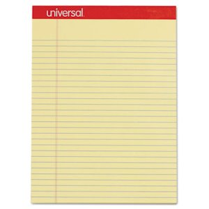 Universal Perforated Writing Pad, Legal/Rule, 50-Sheet, 12 Pads (UNV10630)