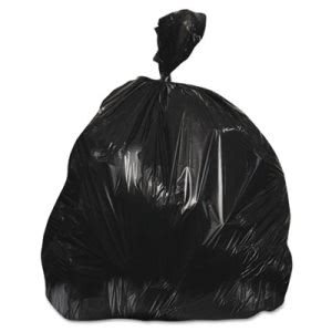 60 Gallon Black Trash Bags, 38x60, 22mic, 150 Bags (JAGRH386022BLK)