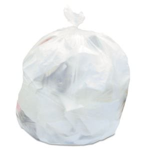 60 Gallon Natural Trash Bags, 38x60, 22 mic, 150 Bags (JAGRH386022)