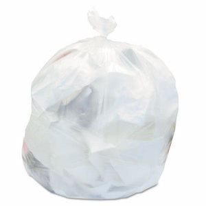 30 Gallon Clear Trash Bags, 30x37, 10mic, 500 Bags (JAG H303710)
