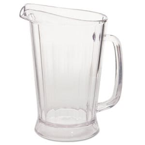 Rubbermaid 3331 Bouncer II 48-oz Plastic Pitcher, Clear (RCP3331CLE)