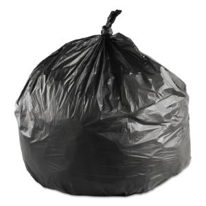 10 Gallon Black Trash Bags, 24x24, 6mic, 1000 Bags (IBS EC242406K)