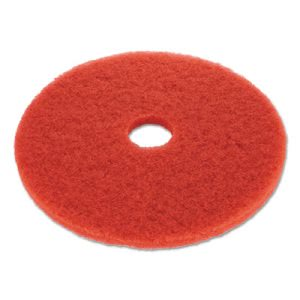 "Boardwalk Red 19"" Floor Buffing Pads, 5 Pads (BWK4019RED)"