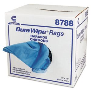Chix DuraWipe General Purpose Towels, 12 x 12, Blue, 250/Carton (CHI8788)