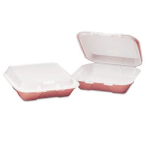 Snap-It Small 3 Compartment Foam Hinged Containers, 200 Containers (GNPSN220)