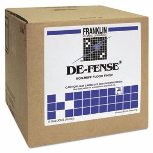De-Fense Non-Buff Floor Wax, 5 Gallon Cube (FRK F135025)