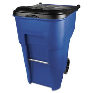 Rubbermaid Commercial Brute Rollout Container, Square, Plastic, 95 gal, Blue (RCP9W2273BLU)