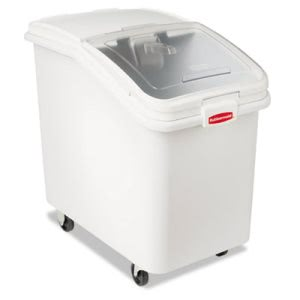 Rubbermaid 3603-88 ProSave Mobile Ingredient Bin, White (RCP360388WHI)