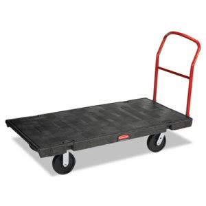 Rubbermaid 4471 HD Platform Truck, 2000-lb. Capacity, Black (RCP 4471 BLA)