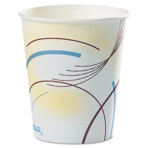 Solo Paper Water Cups, 5 oz., Meridian Design, Multicolored, 2500 Cups (SCC52MD)