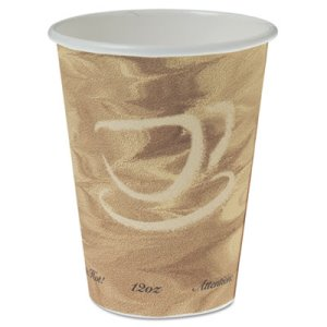 Dart Mistique Polycoated Hot Paper Cup, 12 oz., Brown, 1,000 Cups (SCC412MSN)