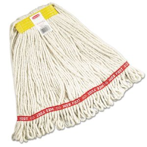 Rubbermaid A111 Web Foot Wet Mop Heads, White, Small, 6 Mops (RCPA111WHI)