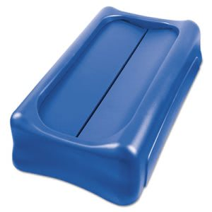 "Rubbermaid Commercial Slim Jim Swing Lid, 11 2/5"" x 5"", Blue (RCP267360BLUEA)"