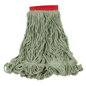 Rubbermaid D253 Super Stitch Blend Mop Heads, Green, Large, 6 Mops (RCPD253GRE)