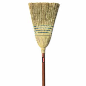 Rubbermaid Commercial Warehouse Corn-Fill Broom, 38-in Handle, Blue (RCP6383)