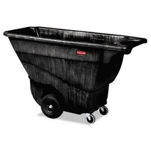 Rubbermaid Structural Foam Tilt Truck, 850lb Capacity, Black (RCP9T14BLA)