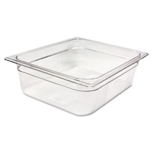Rubbermaid 124P 1/2 Size Cold Food Pan, Clear, Each (RCP124PCLE)