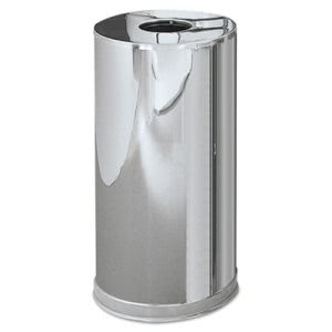 Rubbermaid CC16 Atrium Steel Container, Stainless Steel (RCPCC16MCGL)