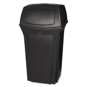 Rubbermaid Ranger 35 Gallon Garbage Can, Brown (RCP843088BRO)