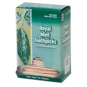 Cello-Wrapped Wooden Toothpicks, Mint Flavored (RPP RM115)