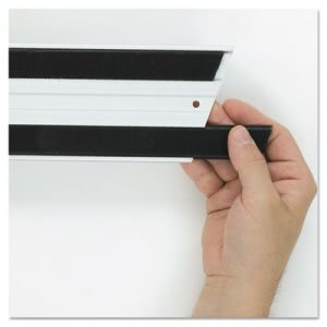Rubbermaid Q180 Hook & Loop Replacement Strips, 6 Strips (RCPQ180BLACT)