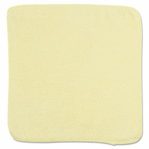 Rubbermaid Microfiber Cleaning Cloths, 12 x 12, Yellow, 24 Cloths (RCP1820580)