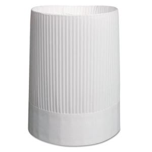 "Royal SCH10 10"" Stirling Fluted Chef Hat, 12 Hats/Carton (RPPSCH10)"