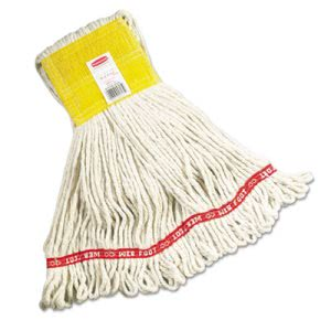 Rubbermaid A151 Web Foot Wet Mop Heads, White, Small, 6 Mop Heads (RCPA151WHI)