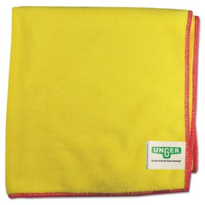 Smart Color Microfiber Yellow Wipes, Heavy-Duty Dust Cloth, 10/Pack (UNGMF40Y)