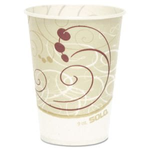 Solo Waxed 9-oz. Paper Cold Cups, Symphony Design, 2000 Cups (SCCR9NSYM)
