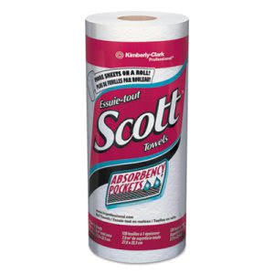 Scott 41482 Kitchen 1-Ply Paper Towel Rolls, 20 Rolls (KCC41482)