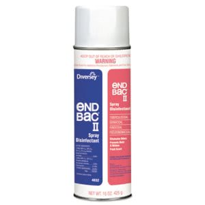 End Bac II Spray Disinfectant, Unscented, 12 Aerosol Cans (DVO04832)