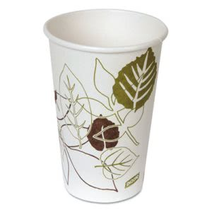Dixie Pathways Paper Hot Cups, Polylined, 16 oz, 20/PK (DXE2346PATHPK)