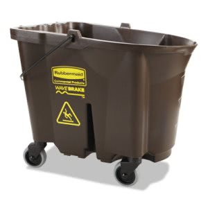 Rubbermaid 7570-88 WaveBrake 35-qt. Mop Bucket, Brown (RCP757088BRO)
