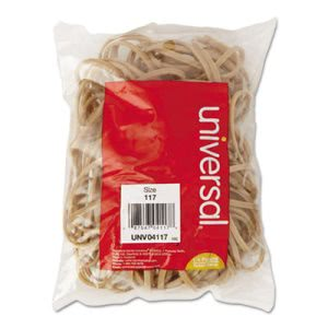 Universal Rubber Bands, Size 117, 7 x 1/8, 50 Bands/1/4lb Pack (UNV04117)