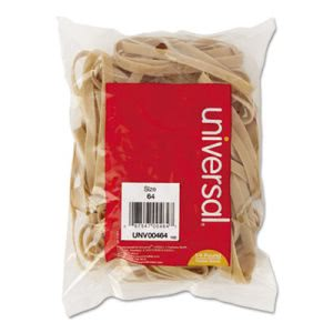 Universal Rubber Bands, Size 64, 3-1/2 x 1/4, 80 Bands/1/4lb Pack (UNV00464)