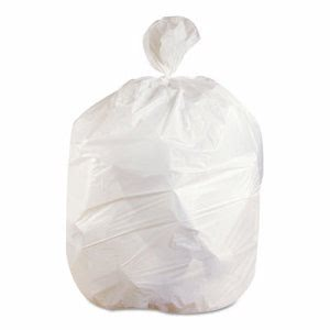 56 Gallon White Garbage Bags, 43x47, 0.75mil, 100 Bags (JAG VW4347X)