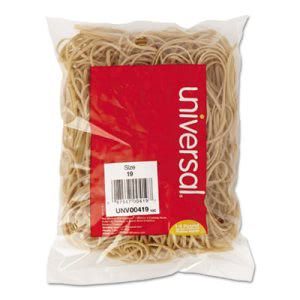 Universal Rubber Bands, Size 19, 3-1/2 x 1/16, 310 Bands/1/4lb Pack (UNV00419)