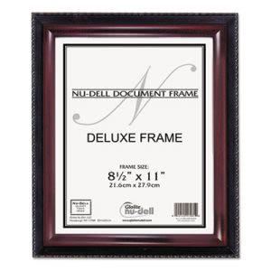 Nu-dell Executive Document Frame, Plastic, 8-1/2 x 11, Black/Mahogany (NUD17402)