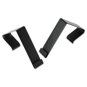 Quartet Cubicle Partition Brackets/Hangers, Black, 2/Set (QRTMCH10)
