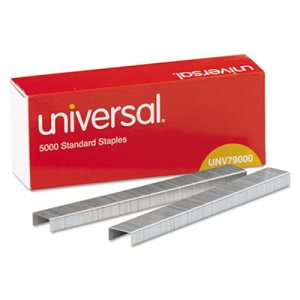 Universal Standard 210 Strip Count Staples, 5 Boxes (UNV79000VP)