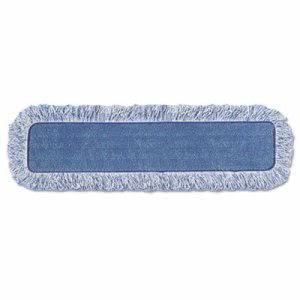 "Rubbermaid Q416 Hygen Microfiber High Absorbency 18"" Mop Pad, Blue (RCPQ41600)"